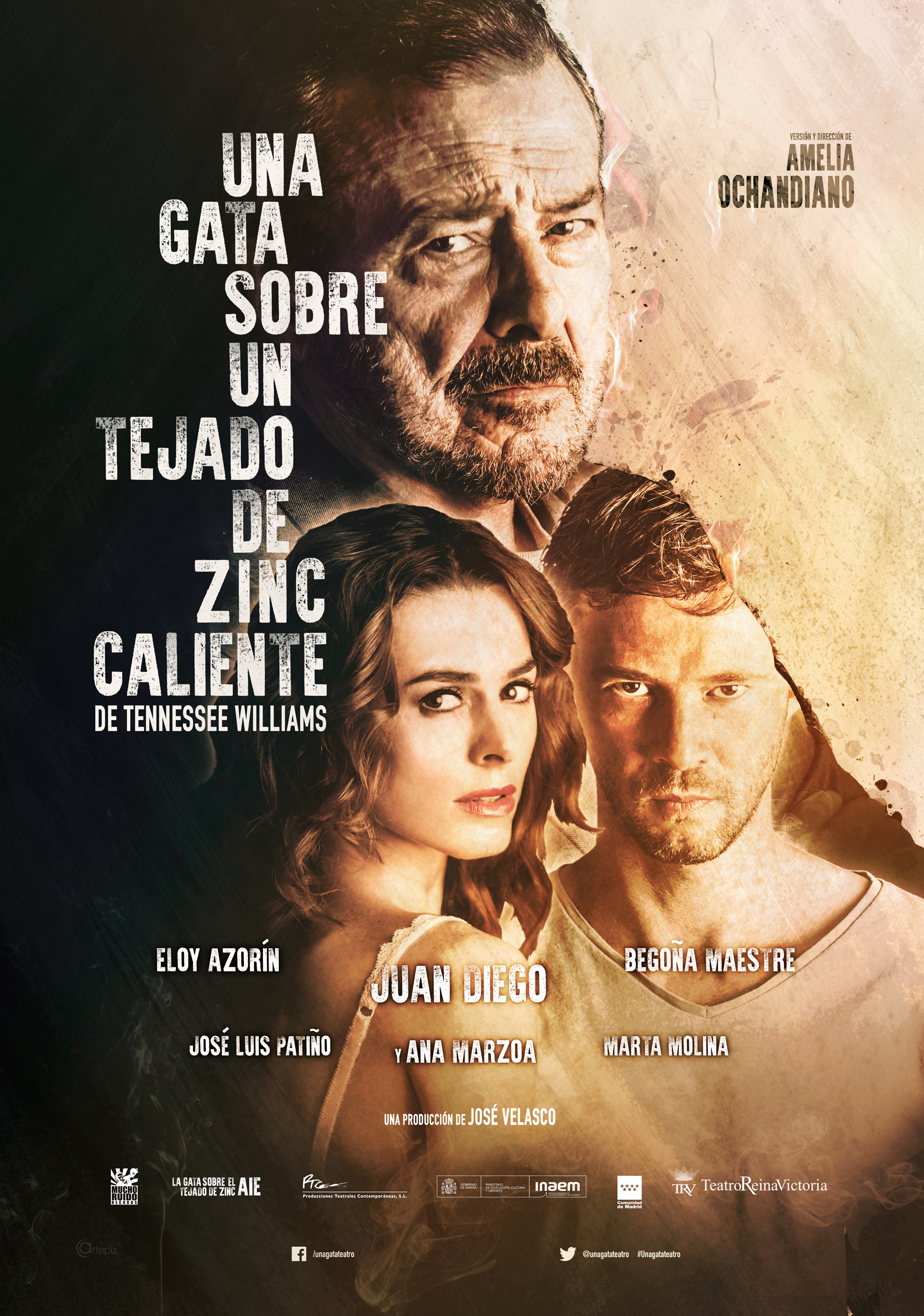 "Premiere in Madrid of the play ""Cat on a hot tin roof"""